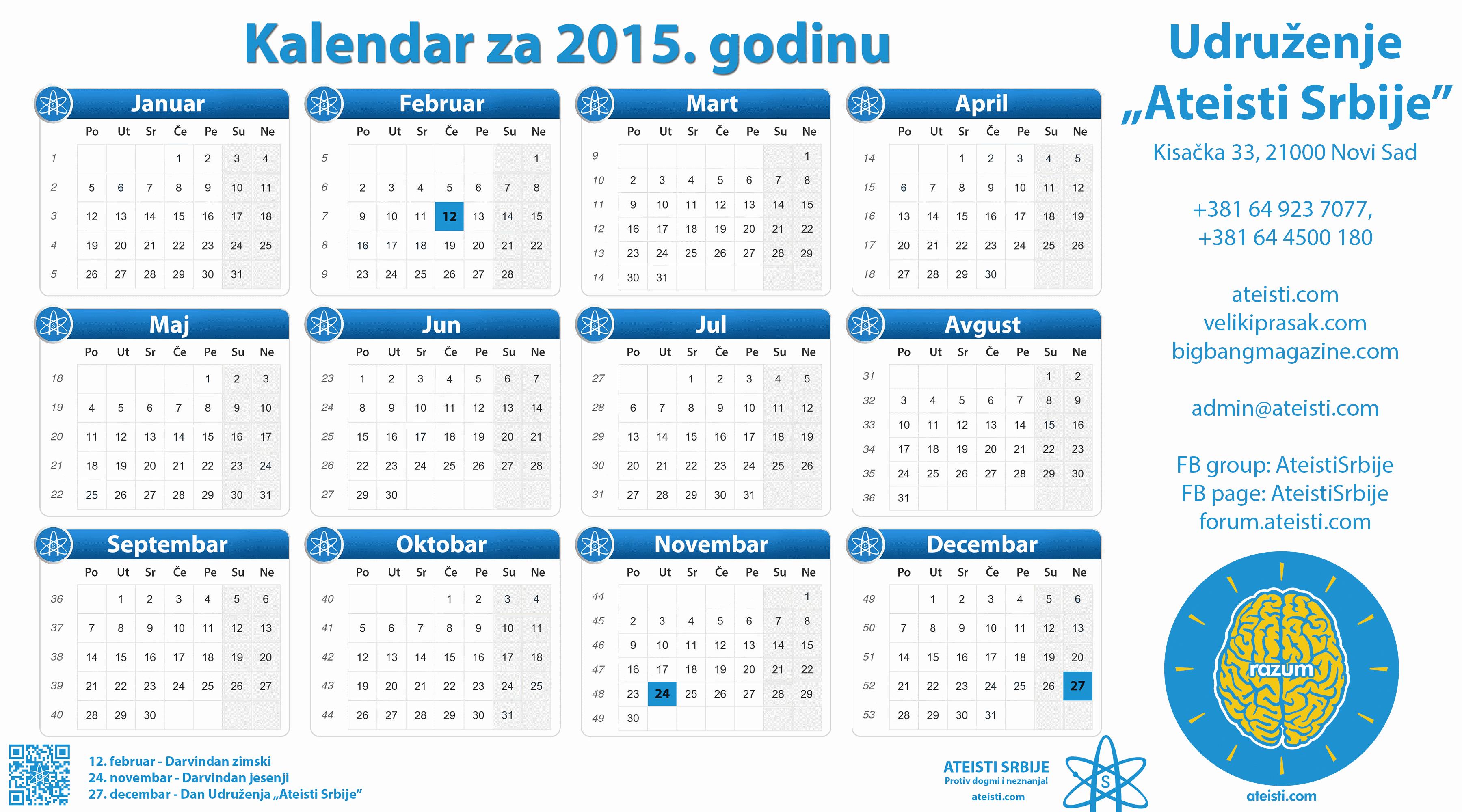 Kalendar 2015 Related Keywords & Suggestions - Hrvatski Kalendar ...